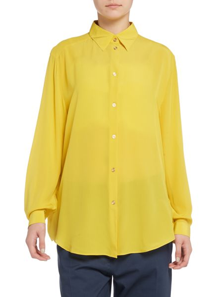 Acne Long sleeve sheer button up shirt