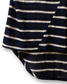 East Stripe Linen Top