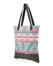 Geo Print Canvas Bag
