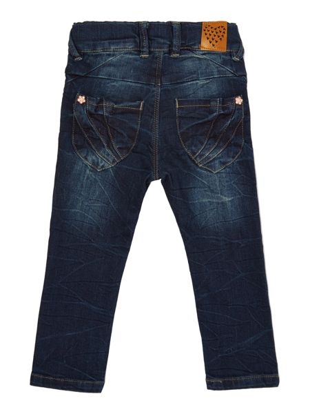 name it Girls dark wash denim