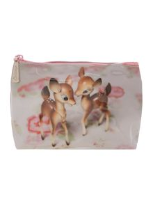 Catseye White medium deer make up bag