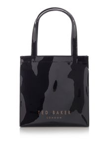 Bowcon black small print tote bag