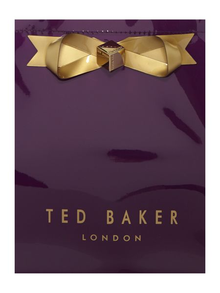 Ted Baker Bowcon purple small print tote bag