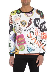 Blomor Skate Graphic Crew Neck Jumper
