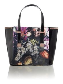 Cicilia multi-coloured floral tote bag