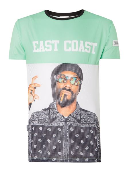Blomor East Coast Snoop Regular Fit Graphi T-Shirt