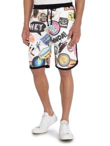 Long Length Skate Graphic Jersey Shorts