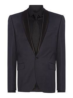 Wesley Slim Fit Satin Shawl Suit Jacket