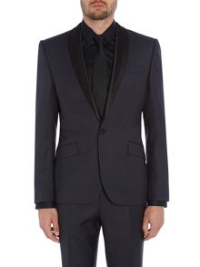Kenneth Cole Wesley Slim Fit Satin Shawl Suit Jacket
