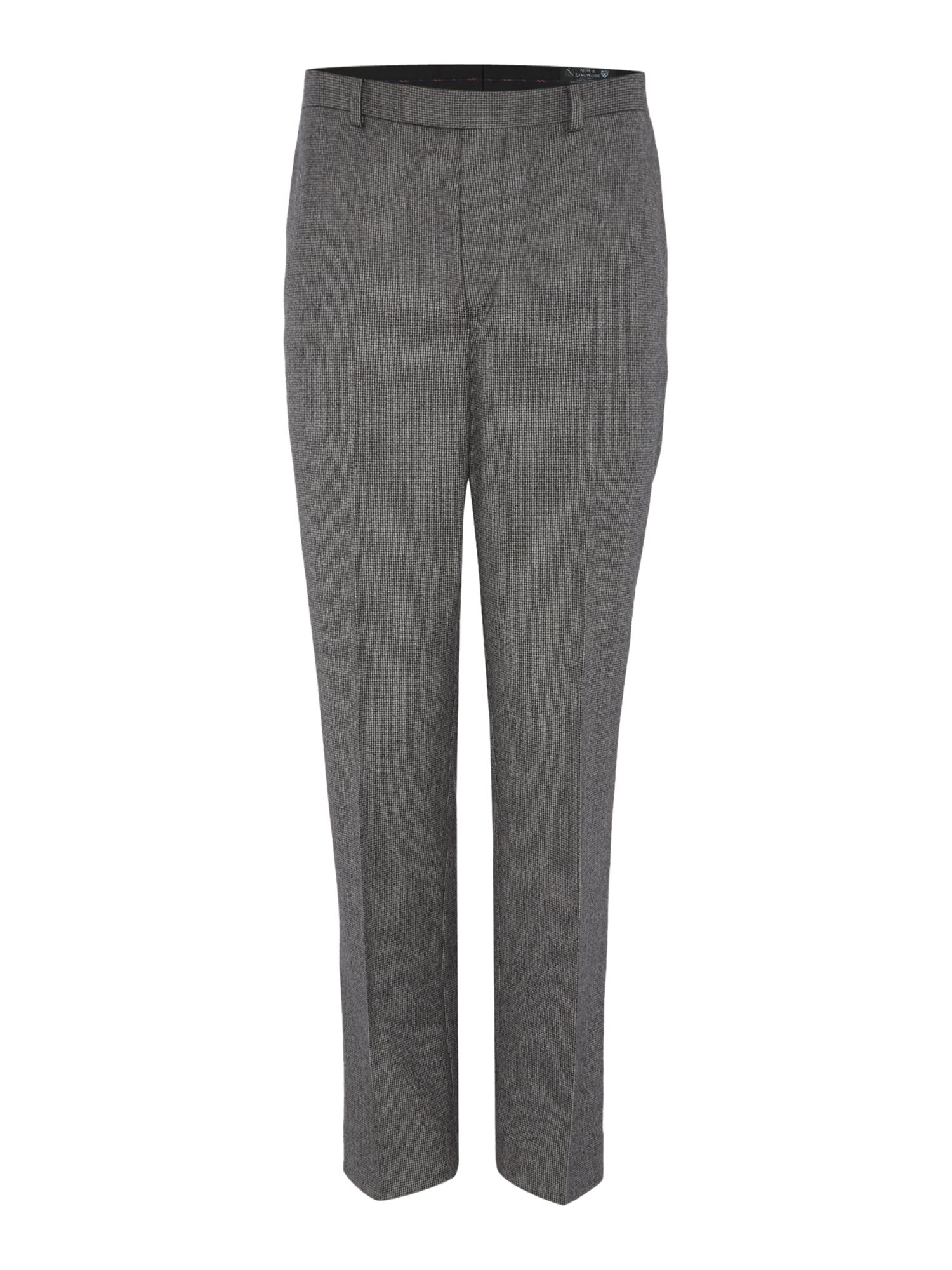 Men's New & Lingwood Hollow Dogtooth Suit Trouser, Grey