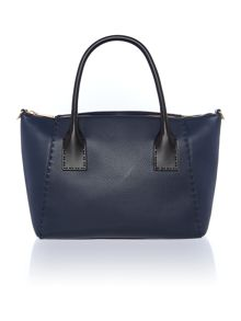 Paigee navy large tote bag