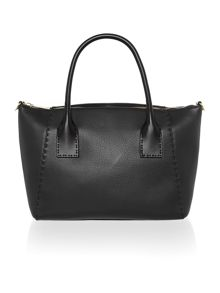 Paigee black large tote bag
