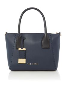 Lauren navy small tote bag