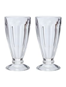 Set of 2 Tall Sundae Glasses