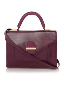 Lilyana purple patent tote bag