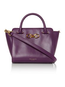 Hollie purple loop bow tote bag