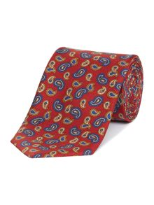 New & Lingwood Mini paisley jacquard silk tie