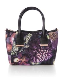 Silvea multi-coloured floral small tote bag