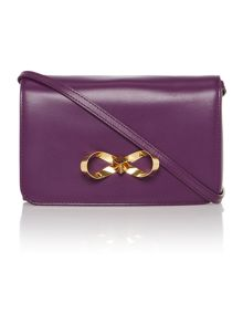 Khloe purple loop bow cross body bag