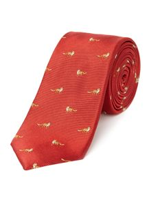 New & Lingwood Alsager Fox Jacquard Silk Tie