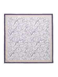 Corsivo Oronzo map detail silk pocket square