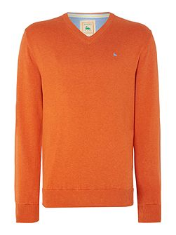 Plain V Neck Pull Over Jumper