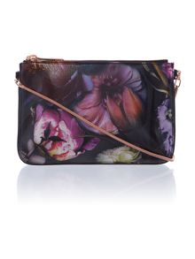 Carlie multi-coloured floral small cross body bag