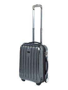 Linea Titanium II grey 2 wheel hard cabin case