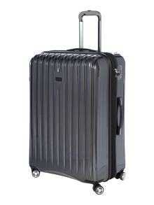 Titanium II grey 4 wheel hard large case