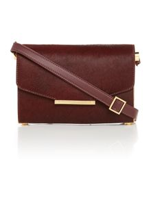 Maii red pony flap over cross body bag