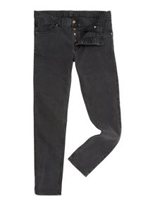 Slim Fit Vintage Black Jeans
