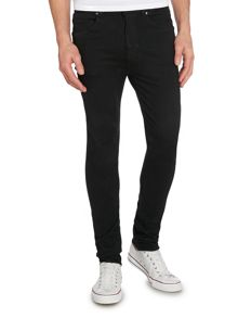 Skinny Tapered Fit Vintage Black Jeans