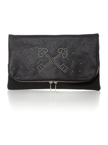 Casey studded clutch bag