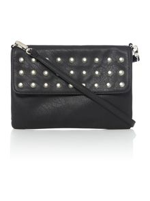 Phoebe studded flap crossbody bag