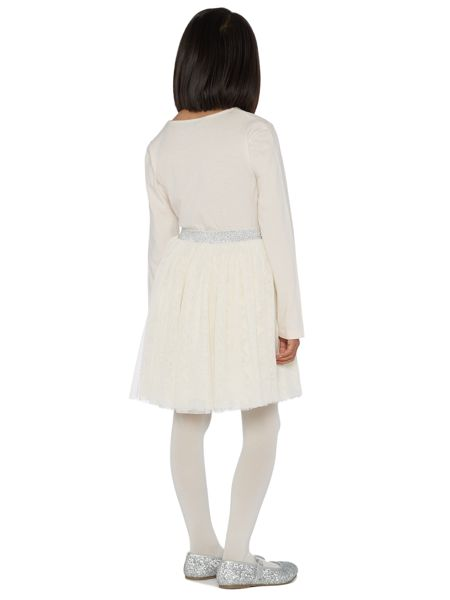 Little Dickins & Jones Girls Abigail tulle bow top