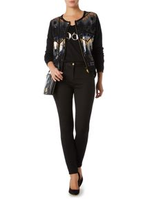 Fully sequined zip up cardigan