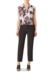 Pied a Terre V Neck Printed Woven Top