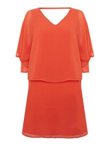 Biba Chiffon overlay dress with zip back