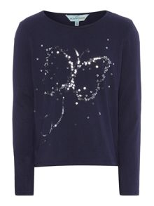 Little Dickins & Jones Girls Lucy sparkly butterfly top