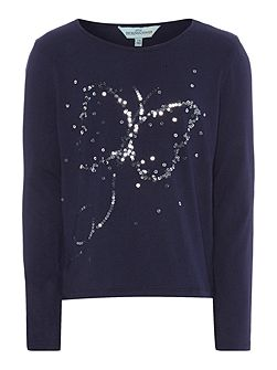 Girls Lucy sparkly butterfly top