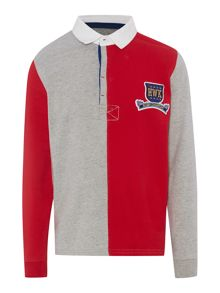 Boys Alfie contrast panel rugby