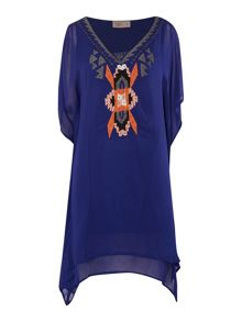 Ibiza Embroidered Nkline Dress