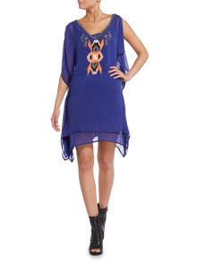 Label Lab Ibiza Embroidered Neckline Dress