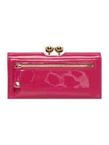 Kassady bright pink large patent flap over purse