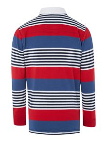 Boys Daniel multi striped rugby