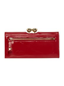 Kassady red large patent flap over purse
