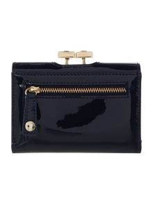 Ethel navy small patent flap over purse