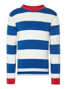 Boys Lucas block striped tee