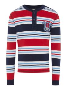 Howick Junior Boys Logan striped henley top