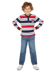 Boys Logan striped henley top